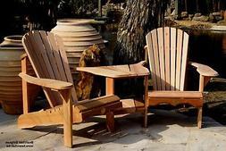 Bear Chair BC950C Red Cedar Adirondack Tete-a-Tete Patio Po