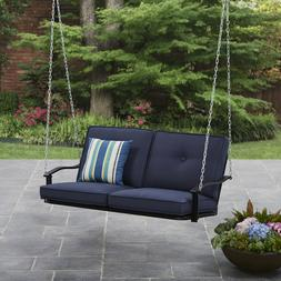 2 Person Cushion Hanging Porch Swing Outdoor Home Furniture
