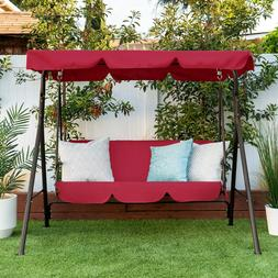 2 Person Outdoor Canopy Swing Glider Furniture Porch Bench P