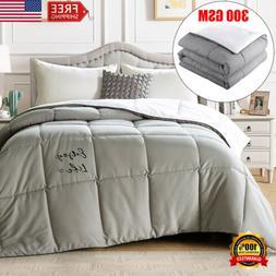 Reversible Down Alternative Comforter Duvet 300 GSM All-Seas