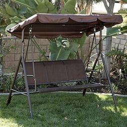 Belleze Porch Swing Glider Outdoor Chair Top Tilt UV Resista