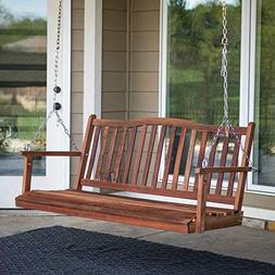 5 Ft Porch Swing for 3 Patio Outdoor Yard Garden Hanging Sea