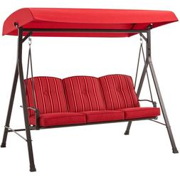 3 person porch patio chair adjustable canopy