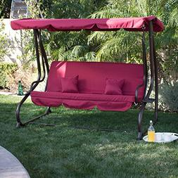 Belleze© 3 Seat Porch & Patio Swing / Bed with pillow -