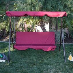 Outdoor 3Person Swing Canopy Hammock Seat Patio Deck Furnitu