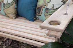 4 or 5 Foot Cypress Porch Swing Swings w/ Cupholders Proudly