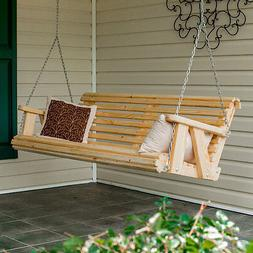 4Ft Pine Rolled Porch Swing handmade by Peach State Swings!!
