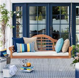 5 ft.Classic Eucalyptus Wood Outdoor Porch Swing with Cushio