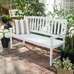 5 ft Outdoor Patio Porch Garden Curved Slat-Back Acacia Wood