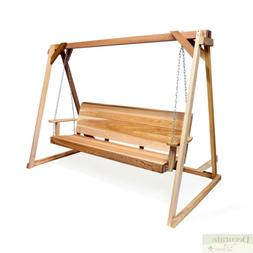 5' Porch Swing w/8' Swing A-Frame Red Cedar Crafted Mounting