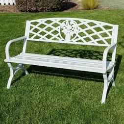 "Belleze 50"" inch Outdoor Park Bench Garden Backyard Furnitur"