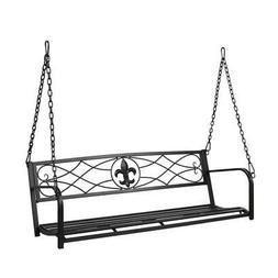 "52"" Patio Porch Hanging Swing Chair Garden Deck Bench Seat O"