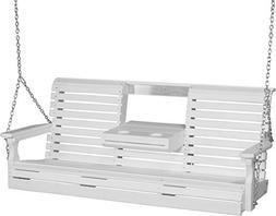 Furniture Barn USA Poly 5 Foot Porch Swing - Rollback Design