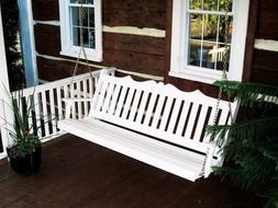 A&L Furniture Amish-Made Pine Royal English Porch Swings - 4