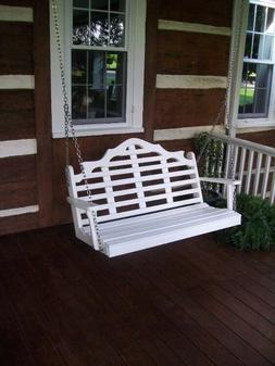 A&L Furniture Amish-Made Poly Marlboro Porch Swings - In 2 S