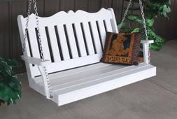 A&L Furniture Amish-Made Poly Royal English Porch Swings - 2
