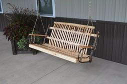 A&L Furniture Co. Amish-Made Hickory Porch Swings, in 2 Size
