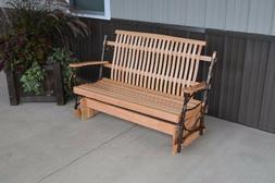 A&L Furniture Co. Amish-Made Hickory Porch Gliders, in 2 Siz