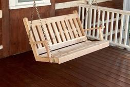 A&L Furniture Co. Amish-Made Cedar Traditional English Porch