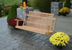 A&L Furniture Co. Amish-Made Bent Oak Porch Swings