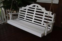 A&L Furniture Co. Amish-Made Pine Marlboro Porch Swings - In