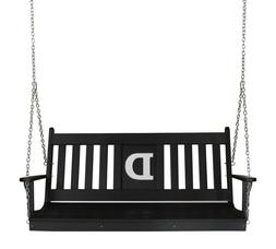 A&L Furniture Co. Monogrammed Poly English Porch Swings - 2