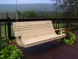A&L Furniture Pressure-Treated Pine Highback Porch Swings -