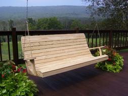 A&L Furniture Pressure-Treated Pine Highback Porch Swings -