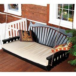 A & L Furniture Yellow Pine Fan Back Swing Bed, Null, Unfini