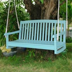 International Caravan Acacia Two Seater Swing With Curved Ba