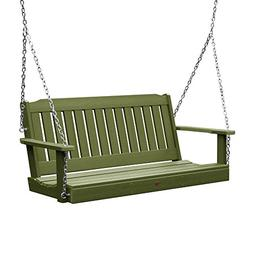 highwood AD-PORL2-SGE Lehigh Porch Swing, 4 Feet Dried Sage