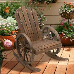 Outsunny Adirondack Rocking Chair Porch Poolside Garden Loun