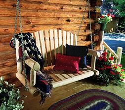 Adirondack Natural Cedar Wood Porch Swing with Chain