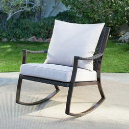 All Weather Wicker Outdoor Rocking Chair Coral Coast Patio P
