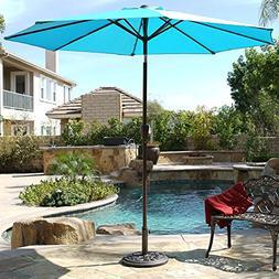 Belleze 9ft Outdoor Patio Umbrella Sun Shade Hand Crank Tilt