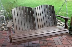 Amish crafted Poly 4 ft Barrel Porch Swing FREE SPRINGS
