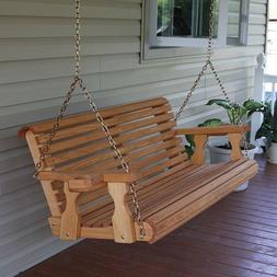 Amish Heavy Duty 800 Lb Roll Back Treated Porch Swing Hangin