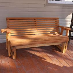Amish Heavy Duty 800 Lb Roll Back Pressure Treated Porch Gli