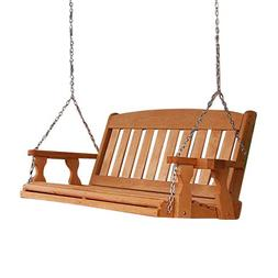 Amish Heavy Duty 800 Lb Mission 5ft. Treated Porch Swing Wit