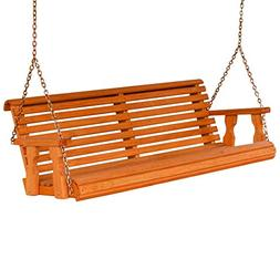 Amish Heavy Duty 800 Lb Roll Back 5ft. Treated Porch Swing -