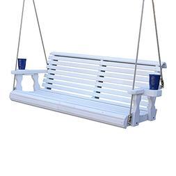 CAF Amish Heavy Duty 800 Lb Roll Back Treated Porch Swing wi