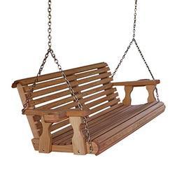 Amish Heavy Duty 800 Lb Roll Back 5ft. Treated Porch Swing W