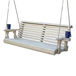 CAF Amish Heavy Duty 800 Lb Roll Back Treated Porch Swing wi