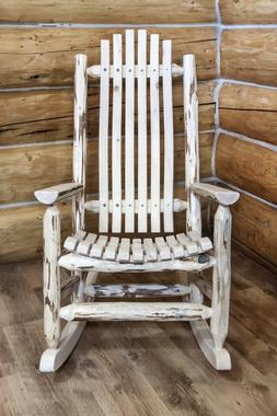 Amish LOG Rocking Chairs Wooden Porch Rockers Handmade Lodge