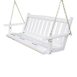 Porchgate Amish Made Mission White Porch Swing