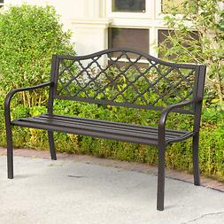 Antique Style Outdoor Cast Iron Front Porch Bench Path Chair