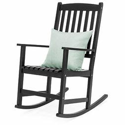bcp traditional wooden rocking chair black