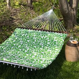 Ben and Jonah Pillow-Top 2 Person Hammock - Spring Green
