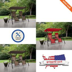 Big and Tall Zero Gravity Outdoor Reclining Porch Swing Cup