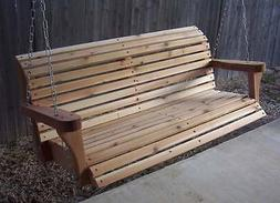 BRAND NEW 5 FOOT CEDAR WOOD CLASSIC PORCH SWING TREE HEAVY D
